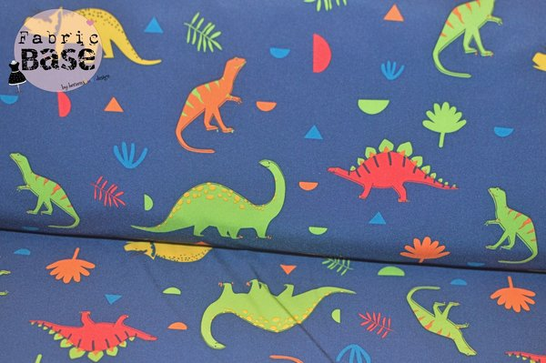 "Softshell Druck ""Colourful Dino"" 0,25 m (15,00/m)"